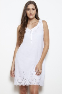 Eda Cotton Lawn Schiffi Nightdress